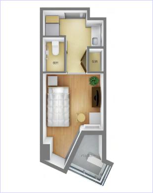 れいんぼうハウス滑石のAタイプのお部屋