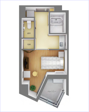 れいんぼうハウス滑石のBタイプのお部屋